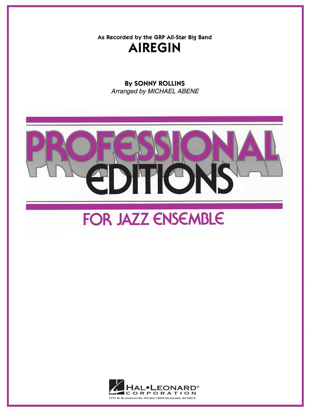 Airegin: Jazz Ensemble: Score & Parts