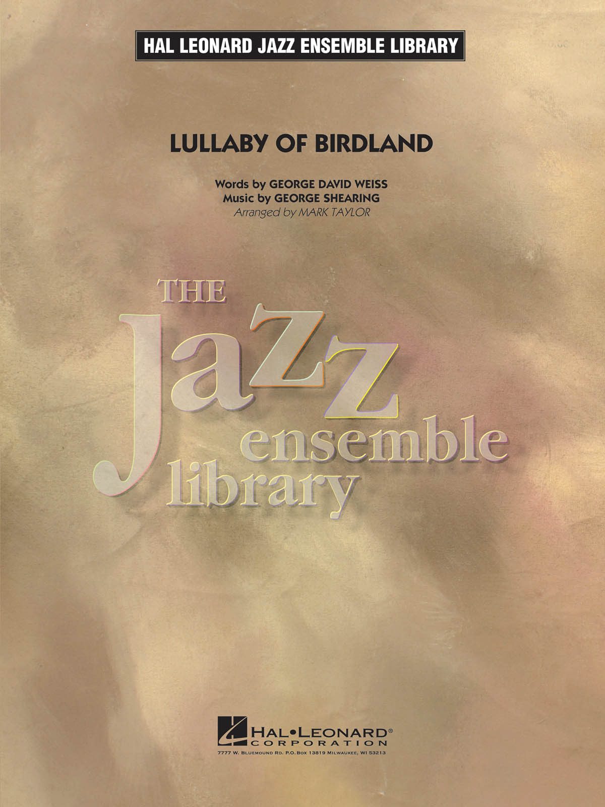 Lullaby of Birdland: Jazz Ensemble: Score