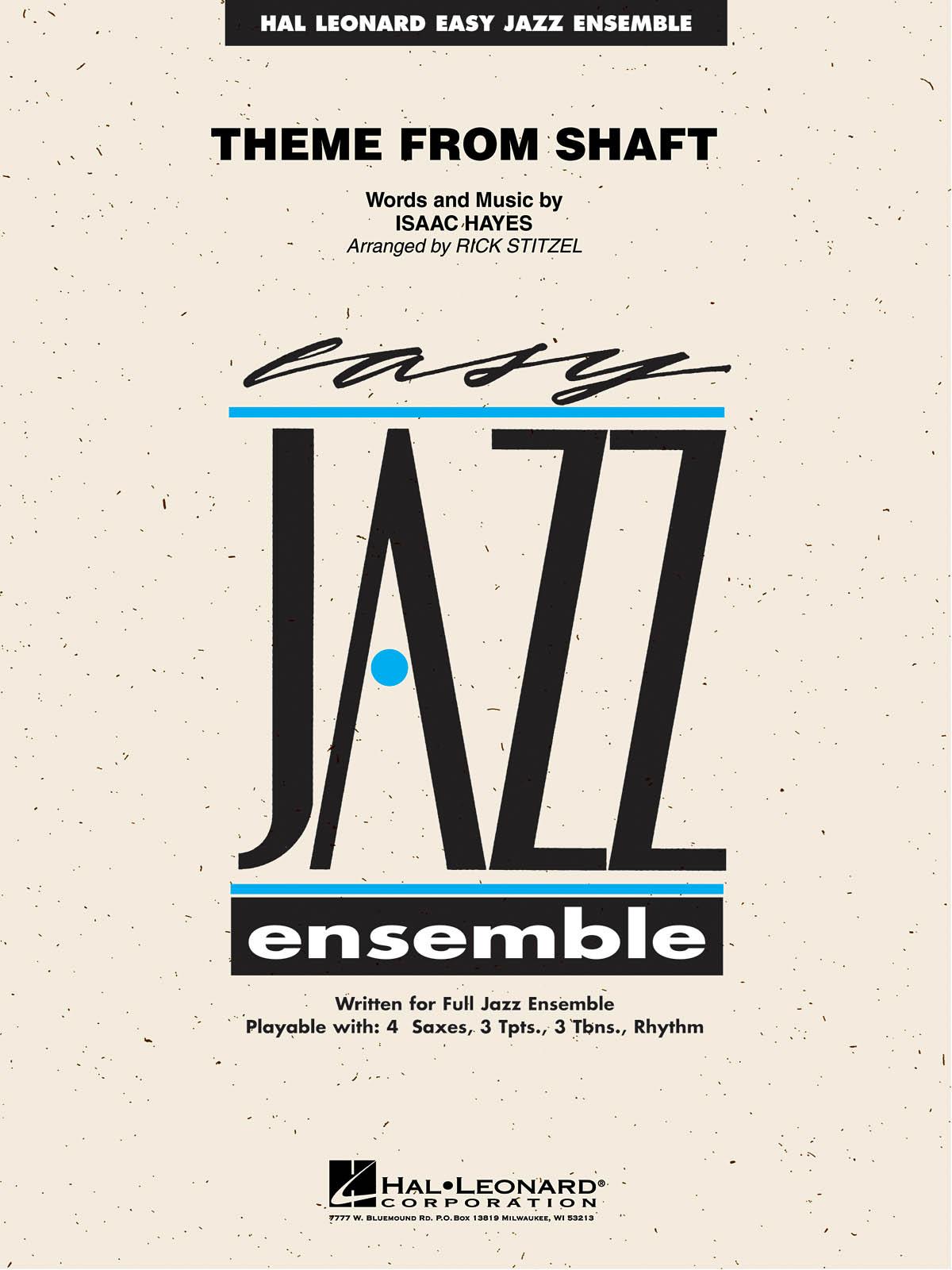 Isaac Hayes: Theme from Shaft: Jazz Ensemble: Score