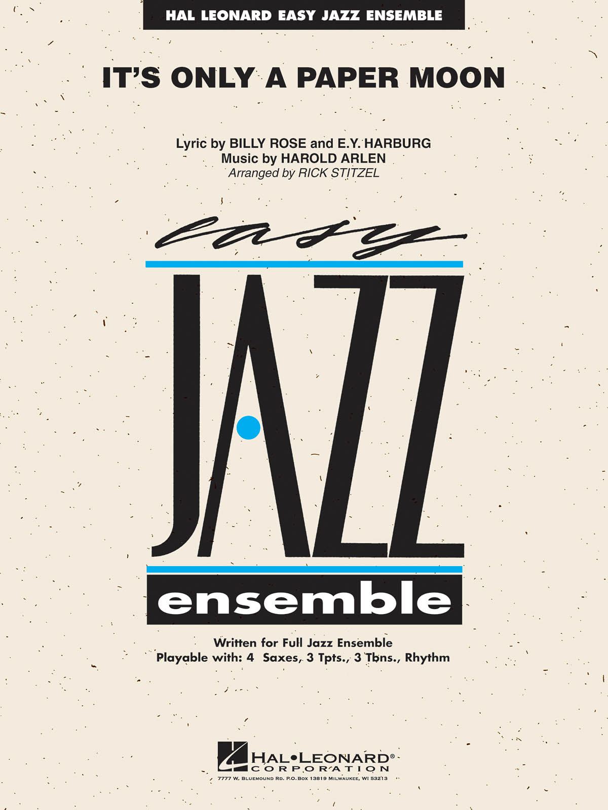 Billy Rose Yip Harburg Harold Arlen: It's Only a Paper Moon: Jazz Ensemble and