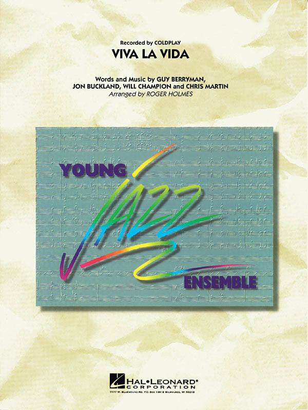 Coldplay: Viva La Vida: Jazz Ensemble: Score and Parts