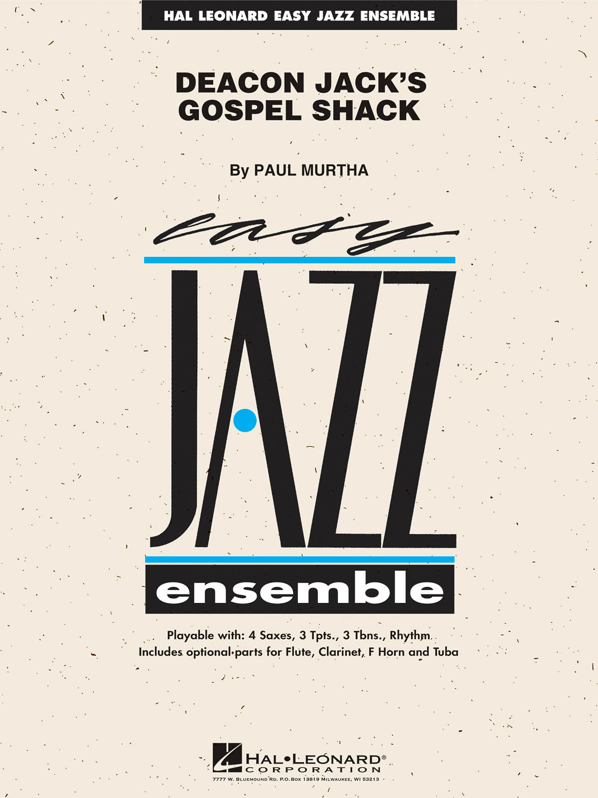 Paul Murtha: Deacon Jack's Gospel Shack: Jazz Ensemble: Score  Parts & Audio
