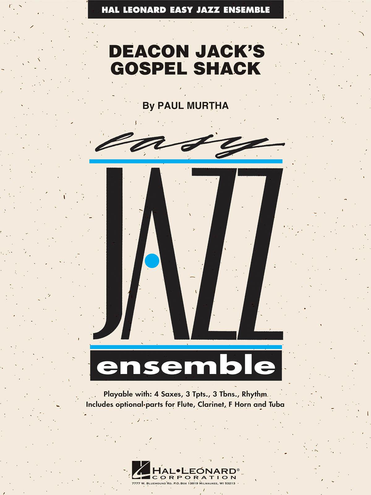 Paul Murtha: Deacon Jack's Gospel Shack: Jazz Ensemble: Score