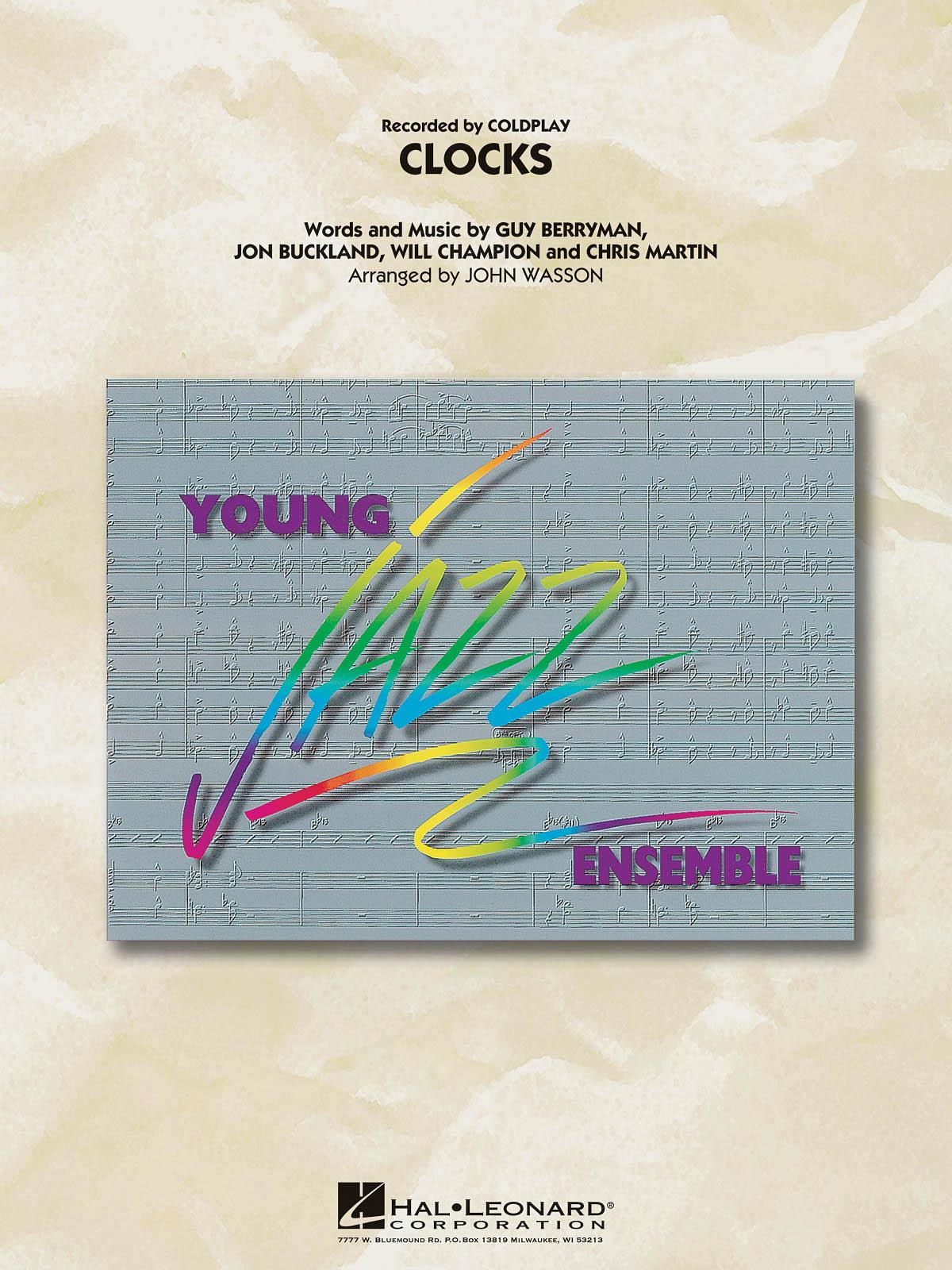 Coldplay: Clocks: Jazz Ensemble: Score & Parts