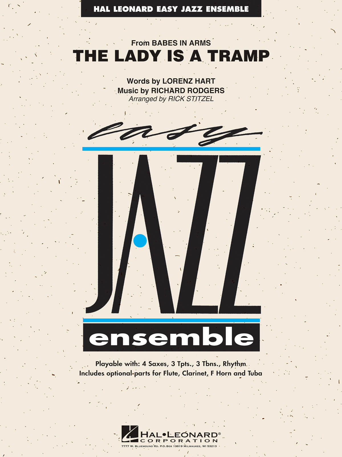 Lorenz Hart Richard Rodgers: The Lady Is a Tramp: Jazz Ensemble: Score and Parts