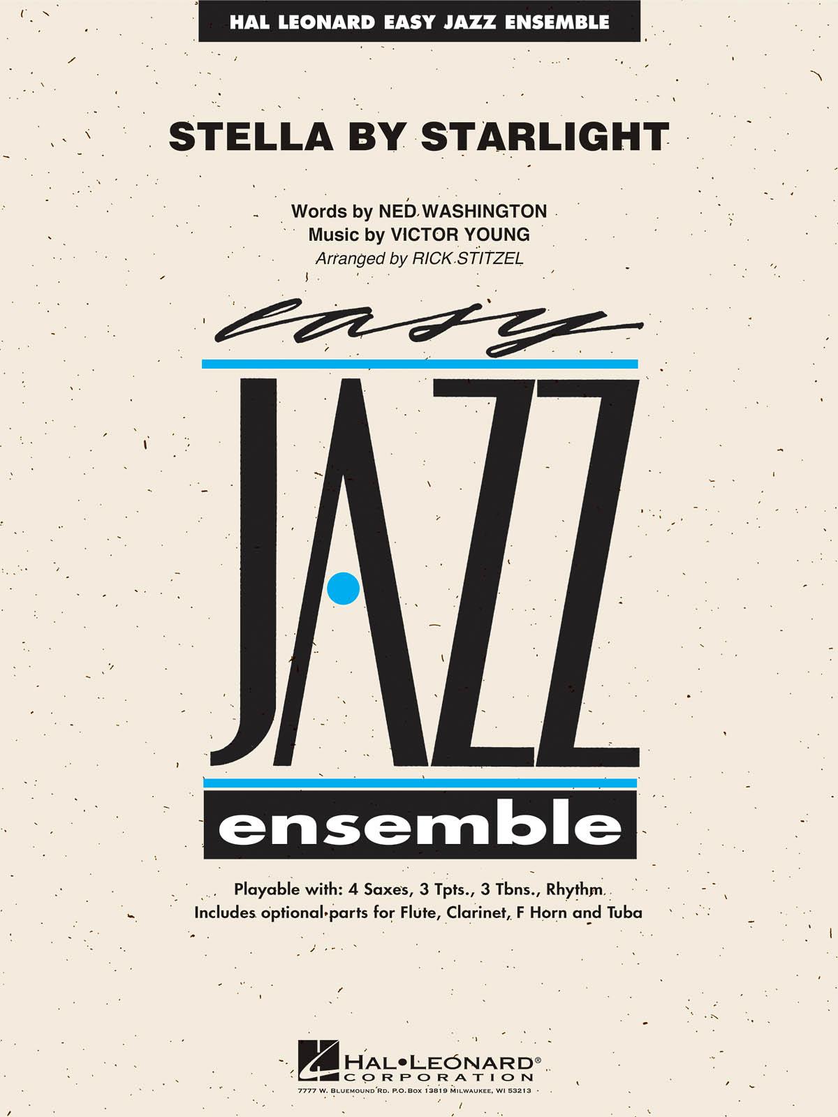 Ned Washington: Stella By Starlight: Jazz Ensemble: Score