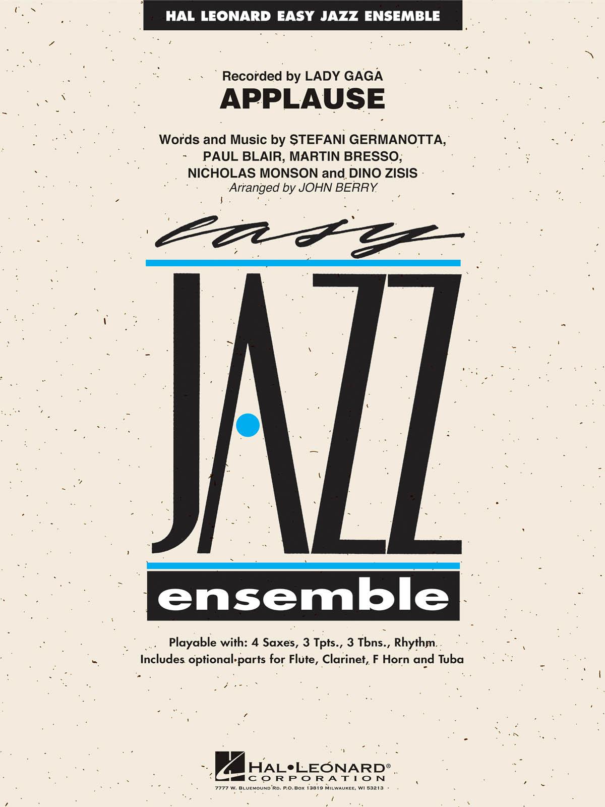 Lady Gaga: Applause: Jazz Ensemble: Score