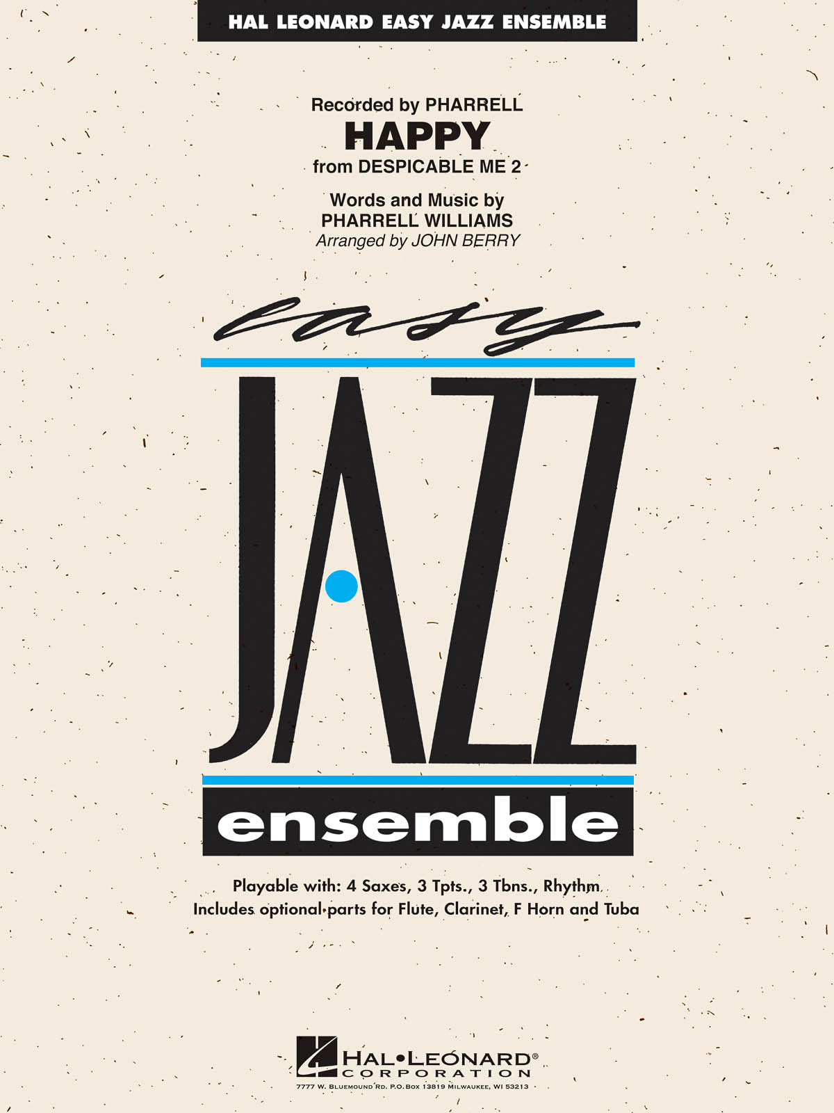 Pharrell Williams: Happy (from Despicable Me 2): Jazz Ensemble: Score and Parts