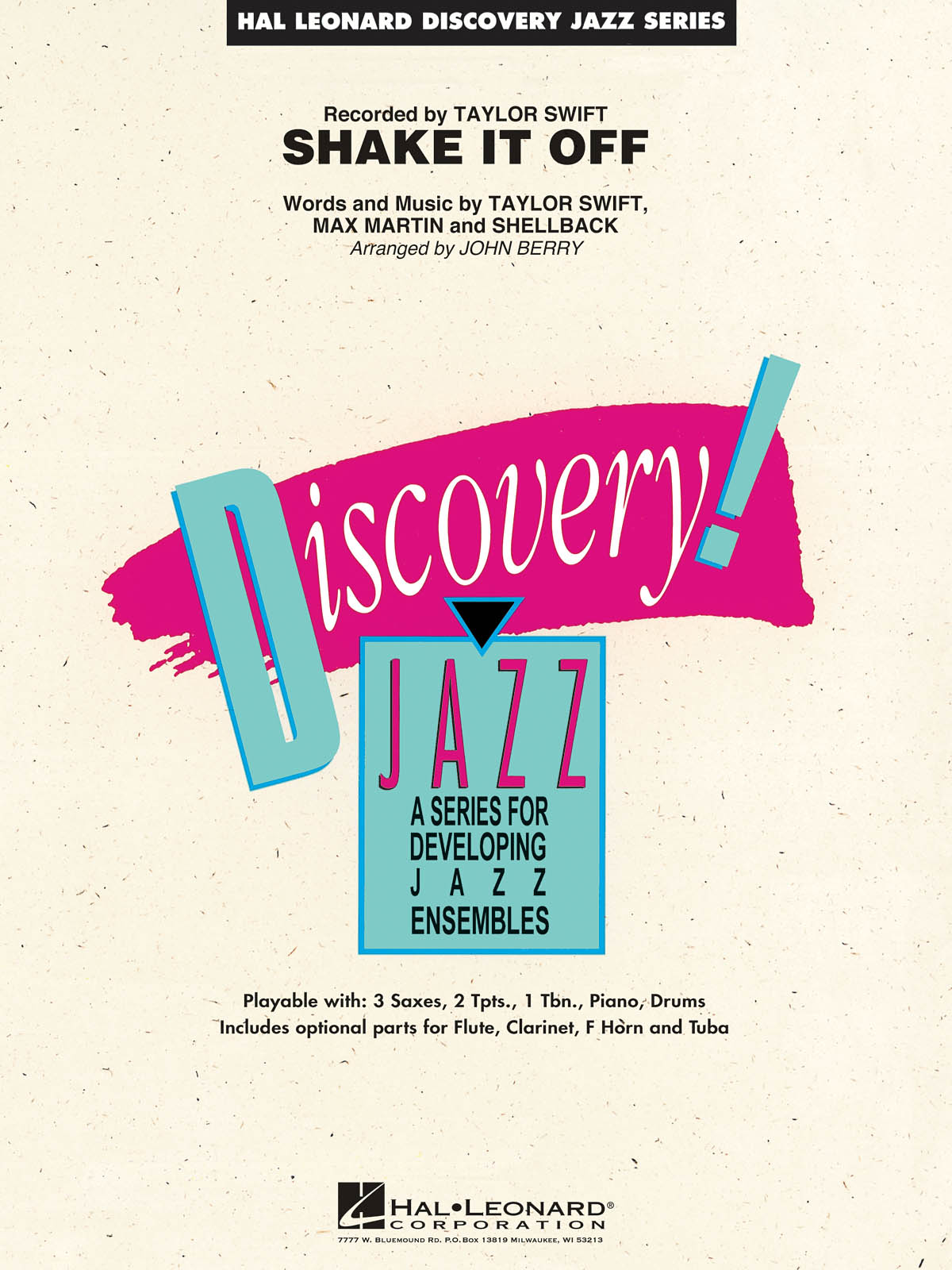 Max Martin  Shellback Taylor Swift: Shake It Off: Jazz Ensemble: Score & Parts