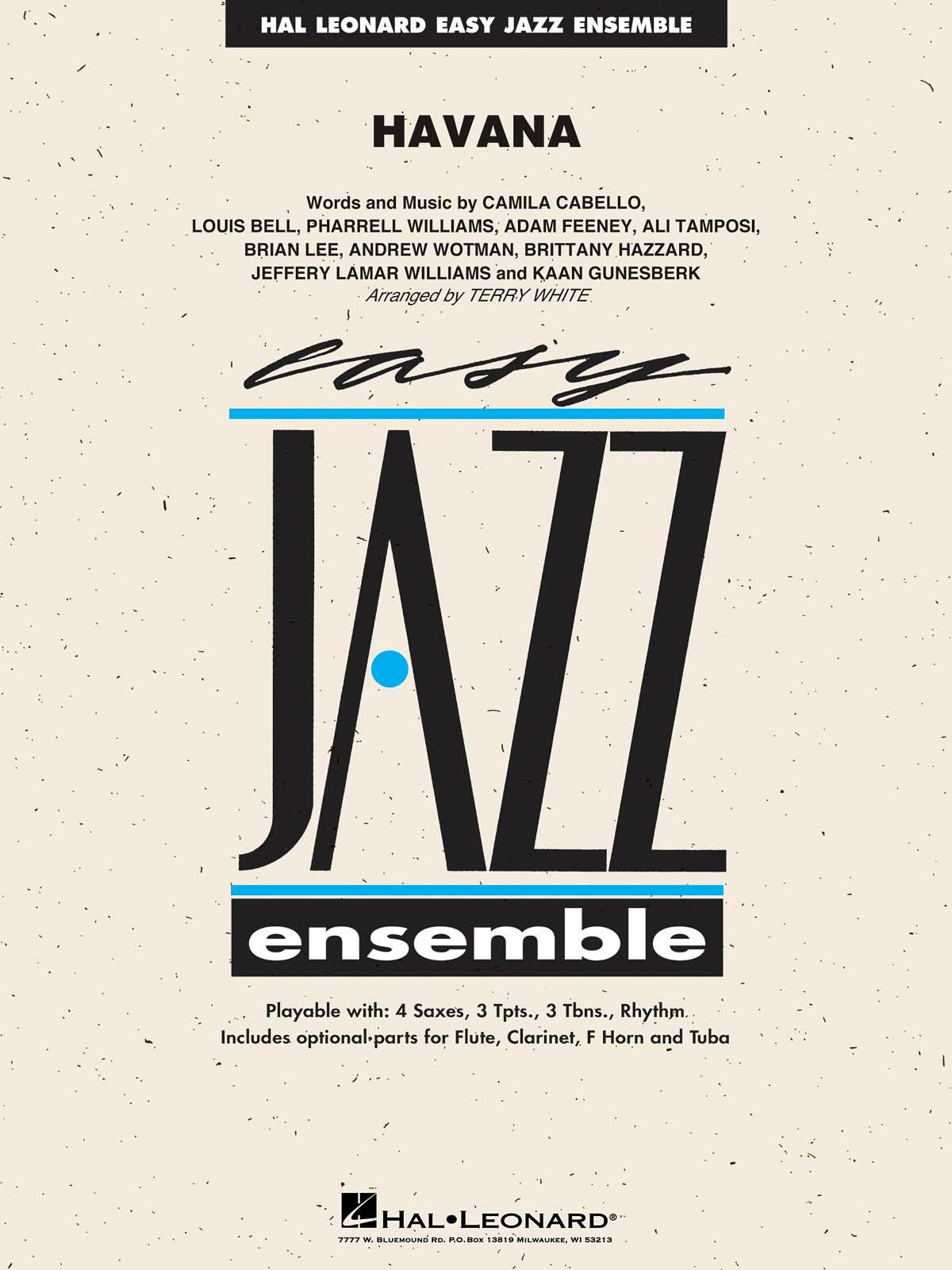 Camila Cabello: Havana: Jazz Ensemble: Score & Parts