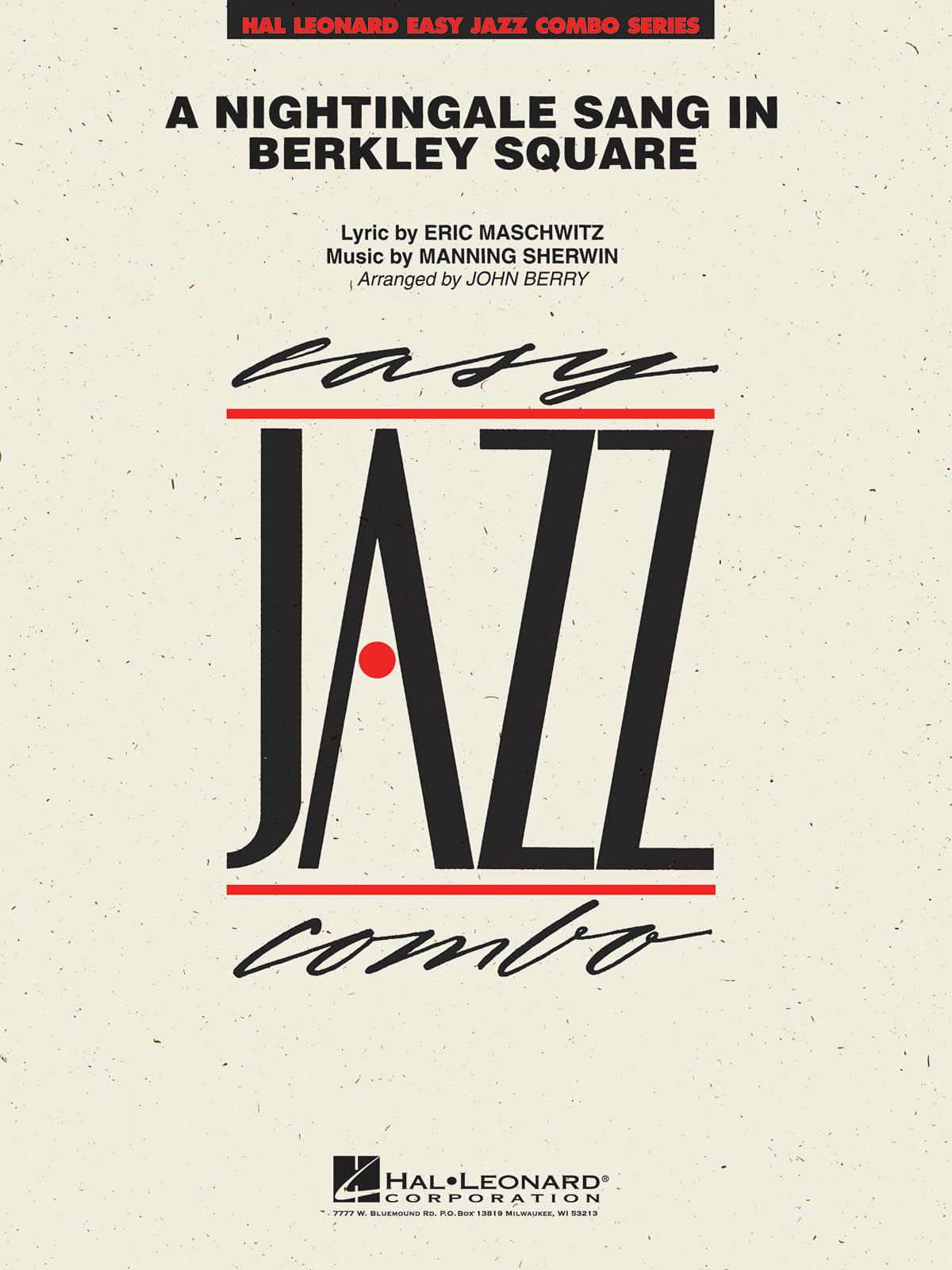 Eric Maschwitz: A Nightingale sang in Berkeley Square: Jazz Ensemble: Score