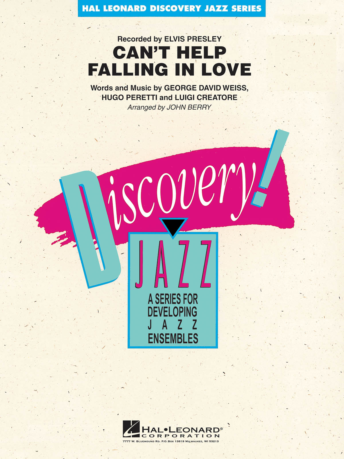 George David Weiss Hugo Peretti Luigi Creatore: Can'T Help Falling In Love: Jazz