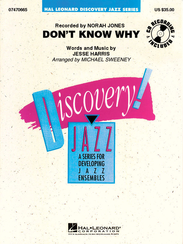 Jesse Harris: Don't Know Why: Jazz Ensemble: Score and Parts