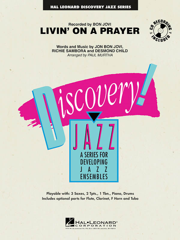 Jon Bon Jovi: Livin' on a Prayer: Jazz Ensemble: Score & Parts
