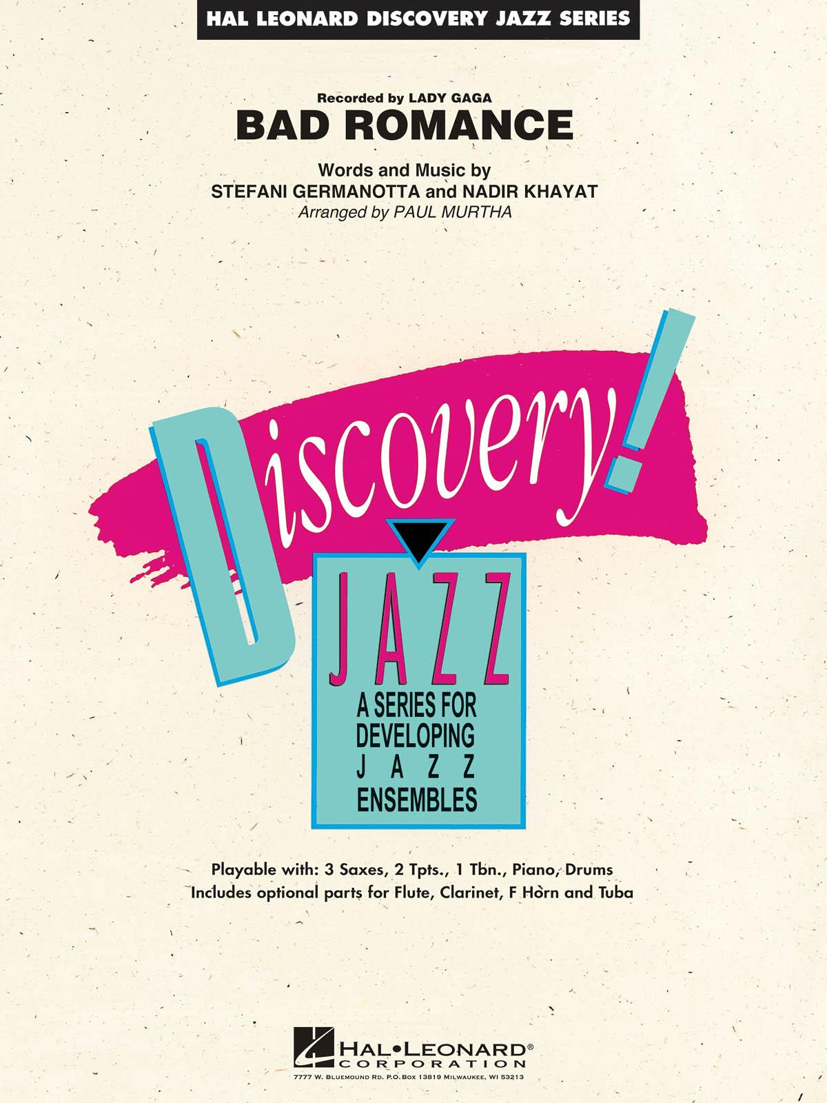 Nadir Khayat Stefani Germanotta: Bad Romance: Jazz Ensemble: Score & Parts