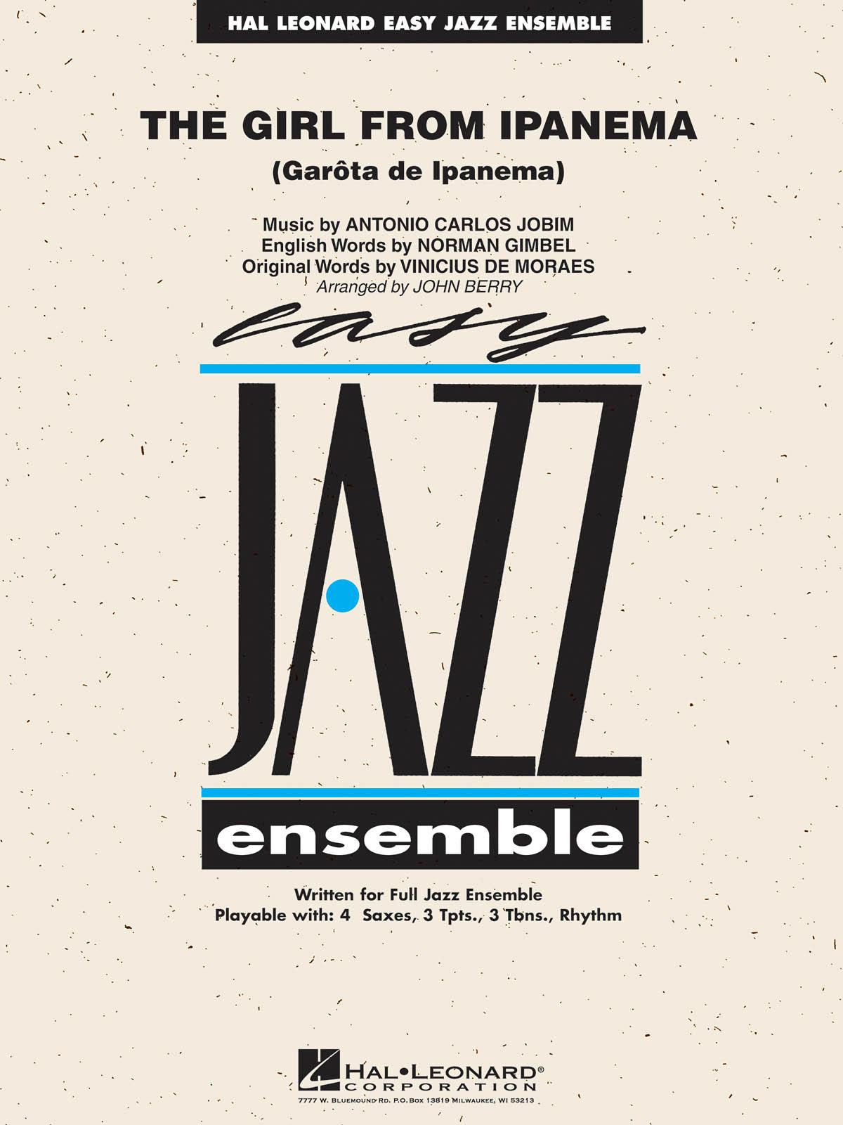Antonio Carlos Jobim: The Girl from Ipanema: Jazz Ensemble: Score  Parts & Audio