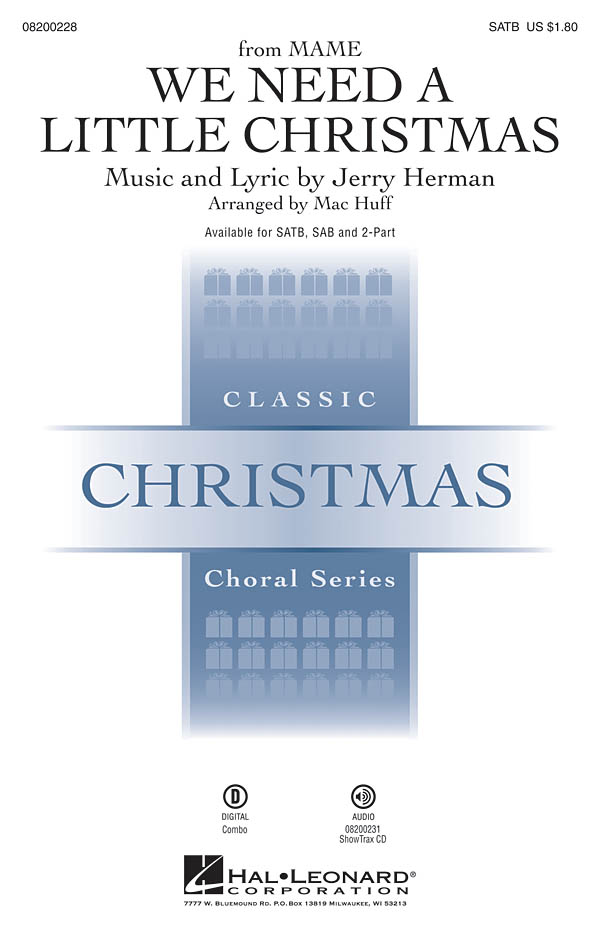 Jerry Herman: We Need a Little Christmas: Mixed Choir a Cappella: Vocal Score