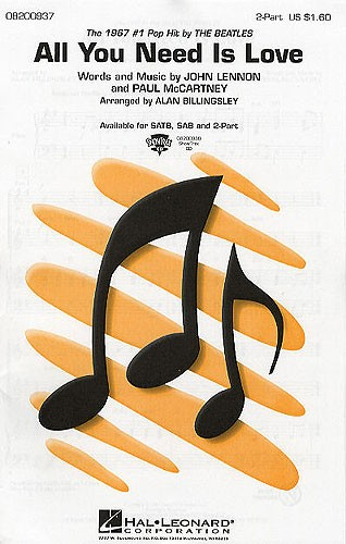 John Lennon Paul McCartney: All You Need Is Love: Mixed Choir a Cappella: Vocal