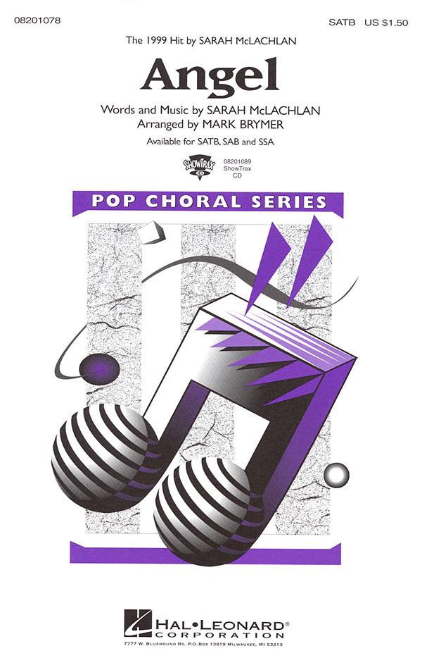 Sarah McLachlan: Angel: Mixed Choir a Cappella: Vocal Score