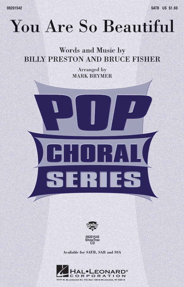Billy Preston Bruce Fisher: You are so beautiful (SATB): Mixed Choir a Cappella: