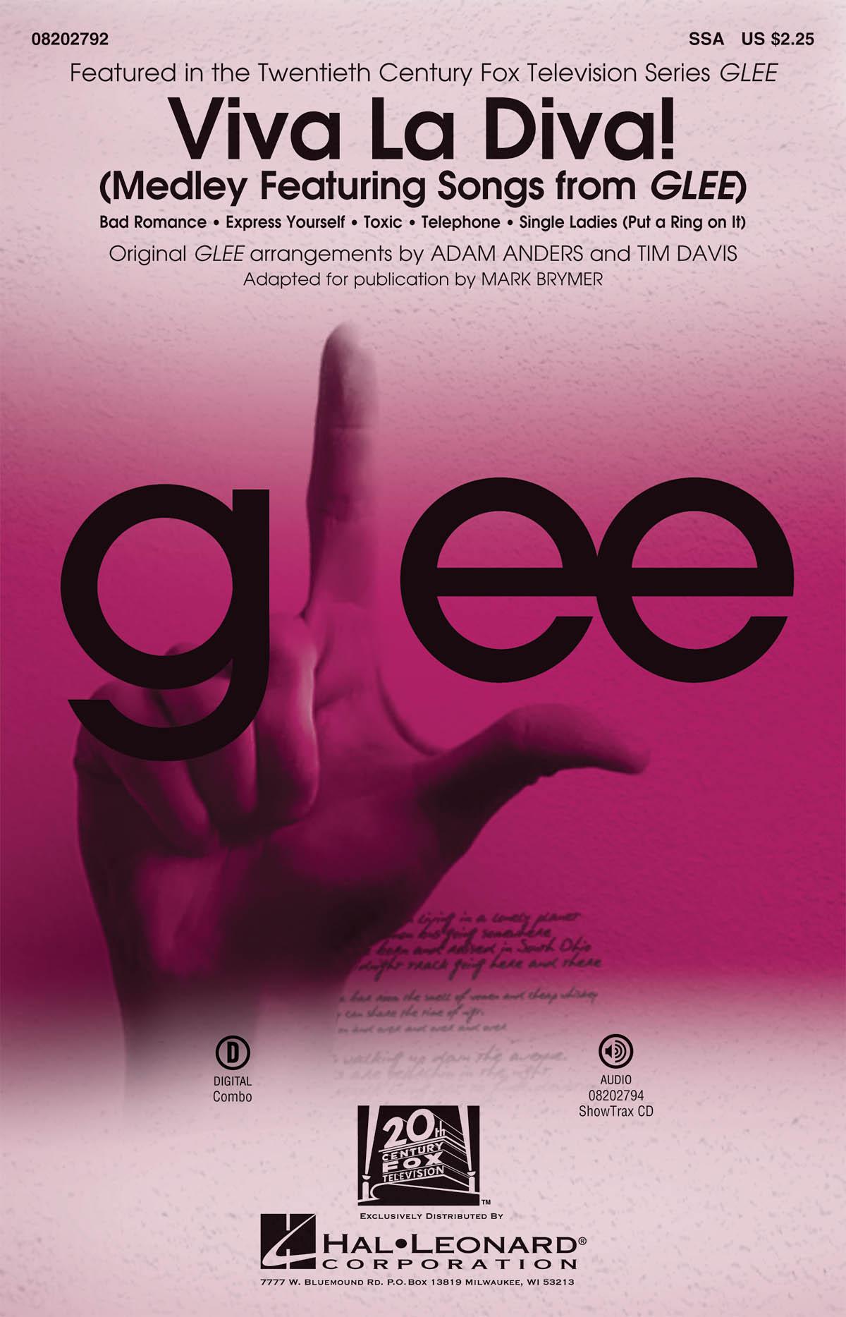 Glee Cast: Viva La Diva!: Upper Voices and Piano/Organ: Vocal Score