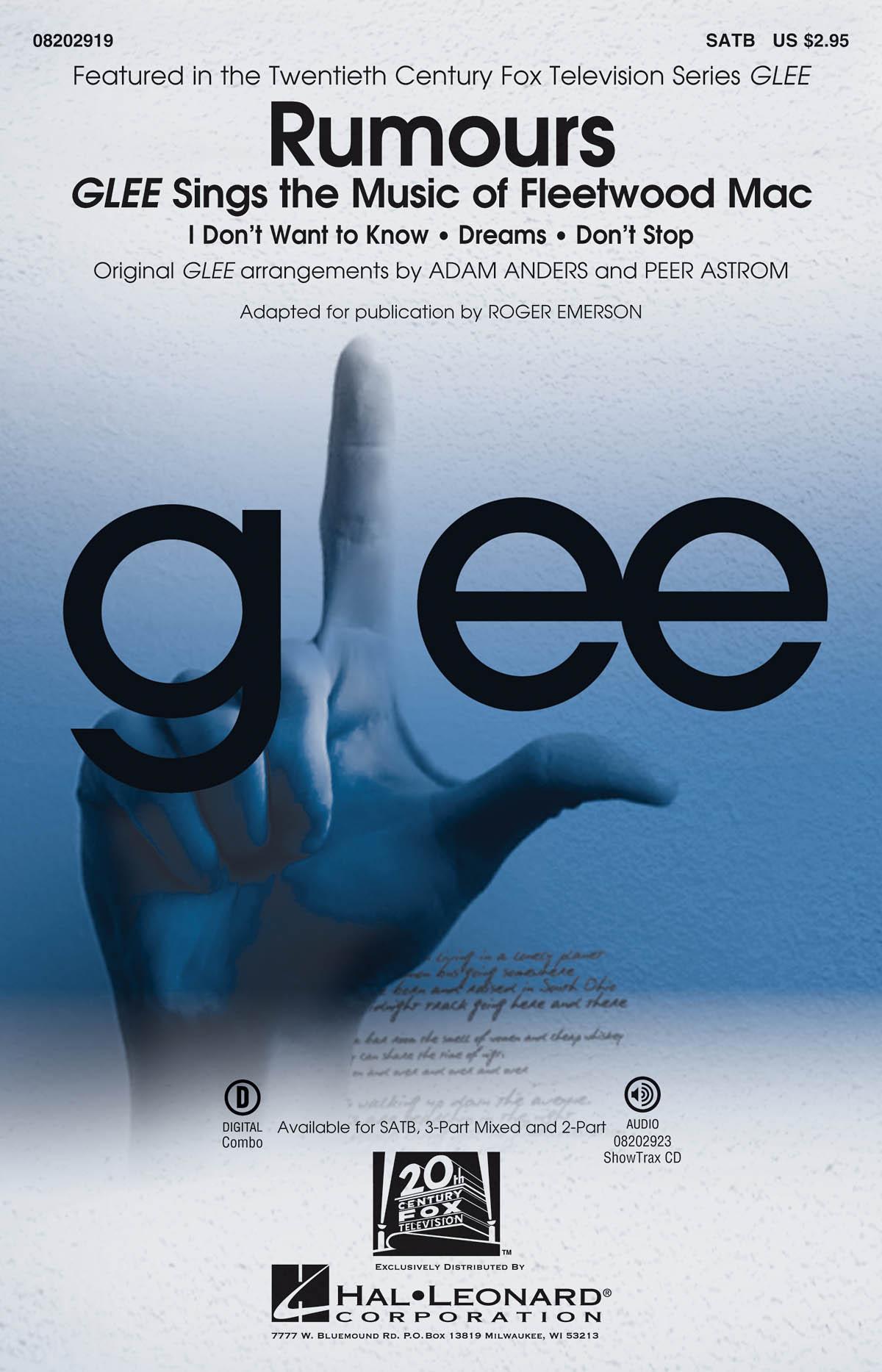 Fleetwood Mac Glee Cast: Rumours: Mixed Choir a Cappella: Vocal Score