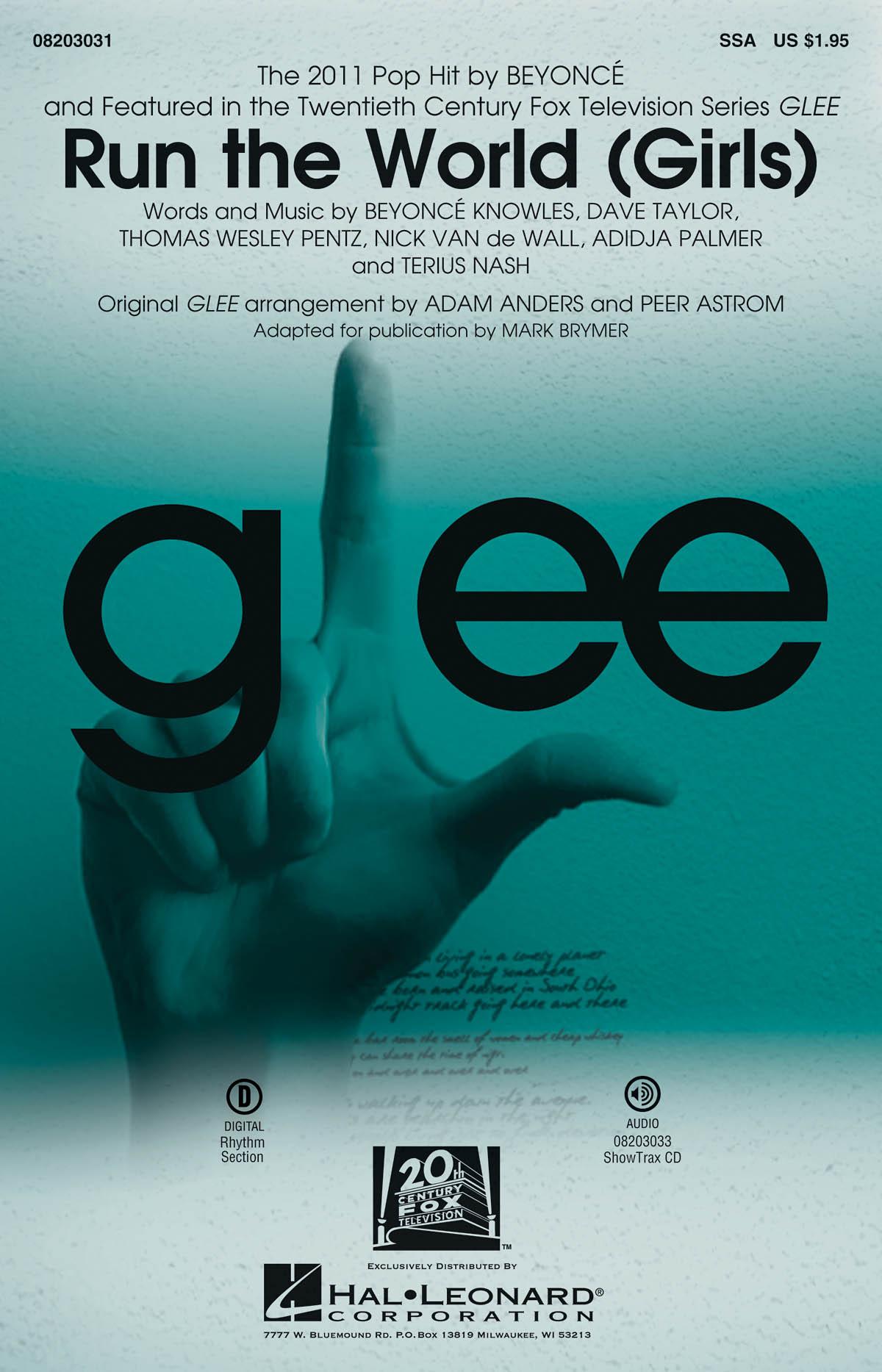 Beyoncé Knowles Glee Cast: Run the World (Girls): SSA: Vocal Score