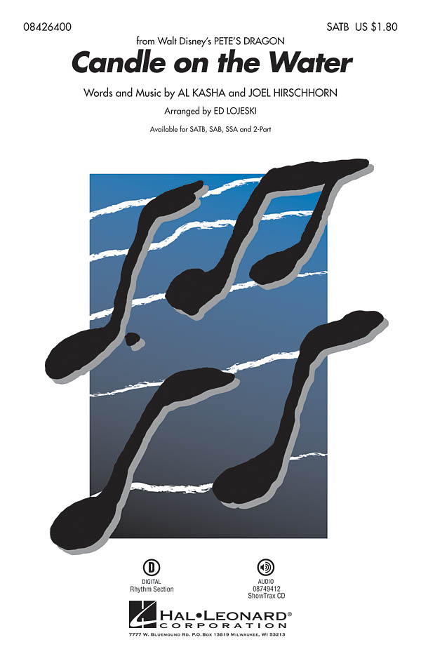 Al Kasha: Candle On The Water (SATB): SATB: Vocal Score