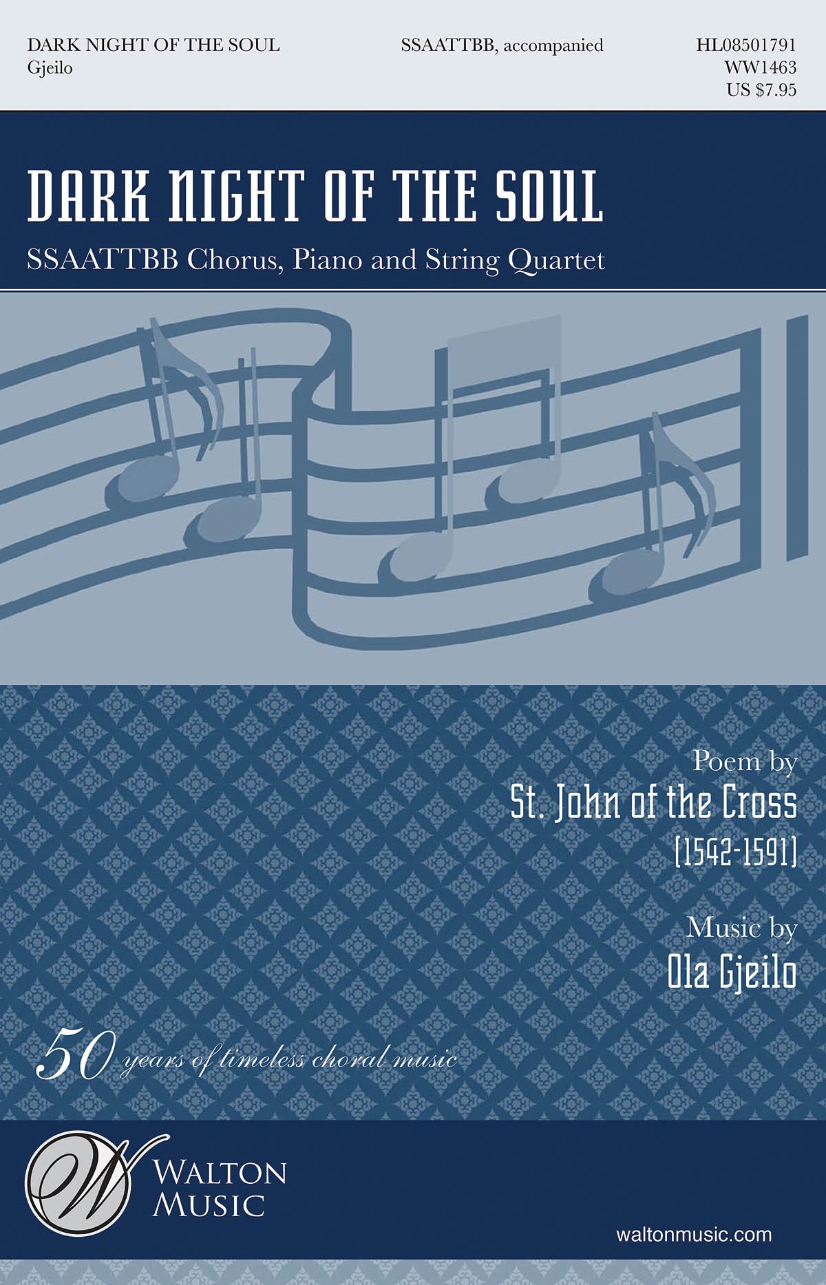 Ola Gjeilo: Dark Night of the Soul: Mixed Choir: Vocal Score