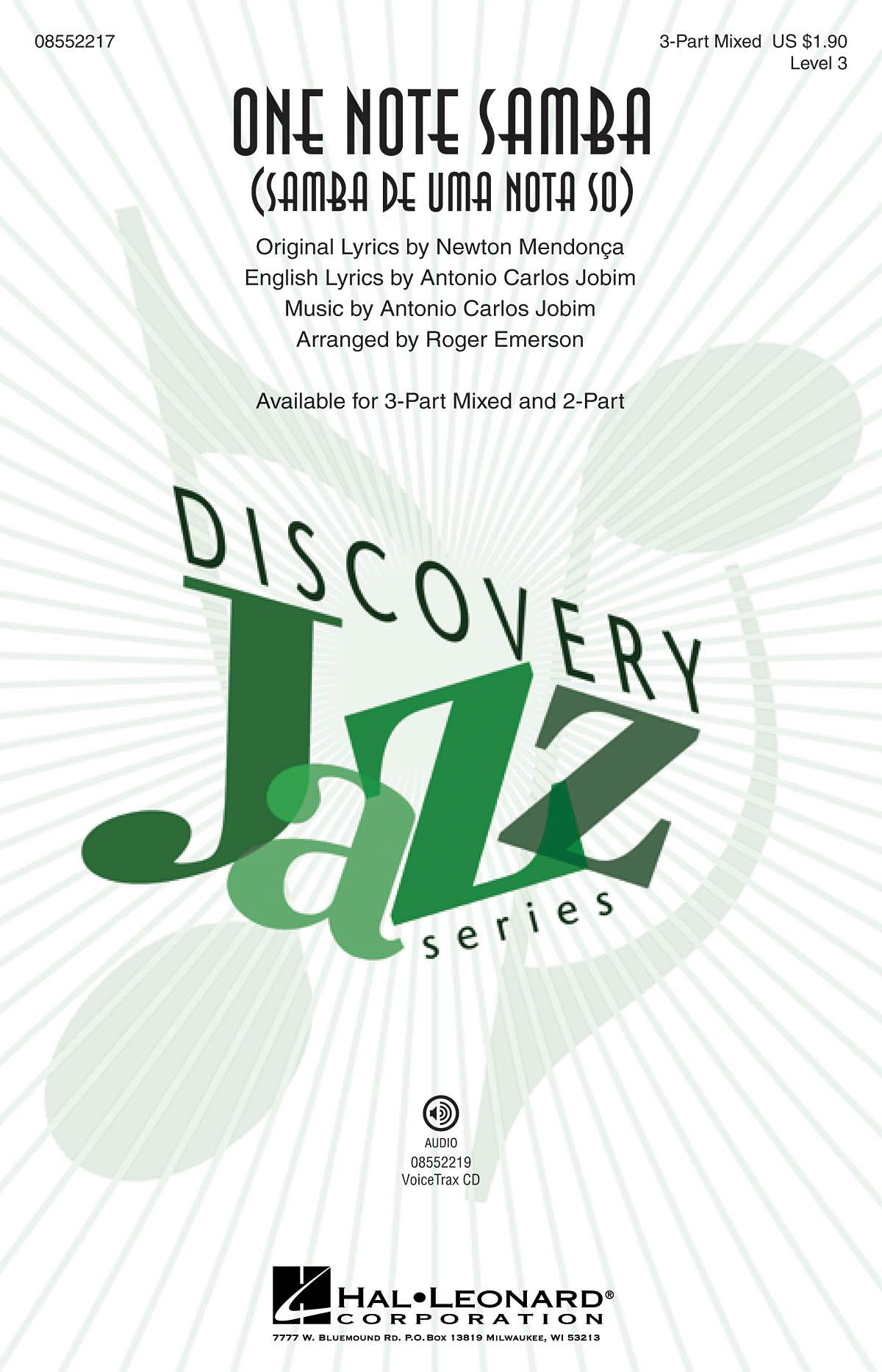 Antonio Carlos Jobim: One Note Samba: 3-Part Choir: Vocal Score
