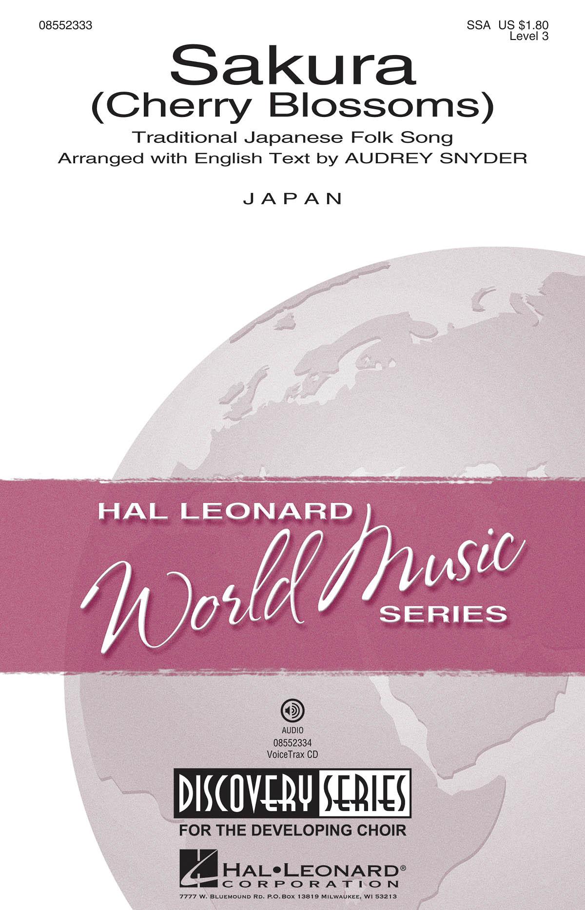 Traditional: Sakura: SSA: Vocal Score