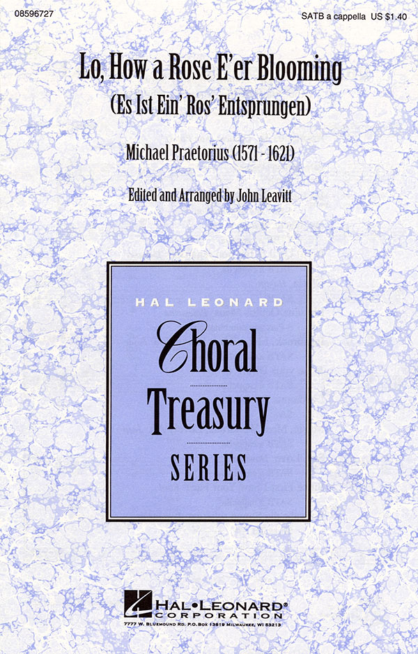 Michael Praetorius: Lo  How a Rose E'er Blooming: SATB: Vocal Score
