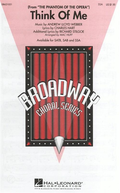 Andrew Lloyd Webber Charles Hart Richard Stilgoe: Think of me: SSA: Vocal Score