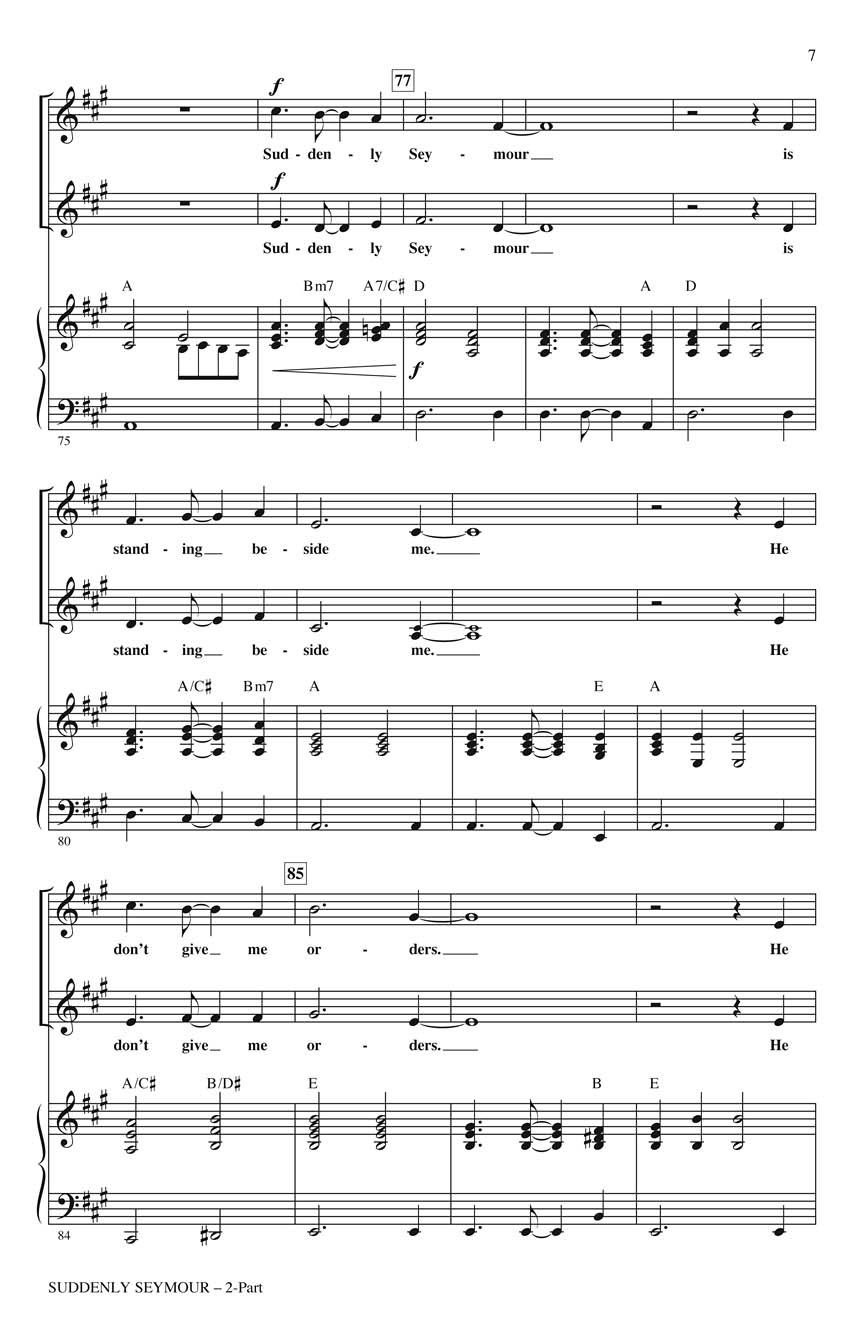 Alan Menken Howard Ashman: Suddenly Seymour: Vocal: Vocal Score