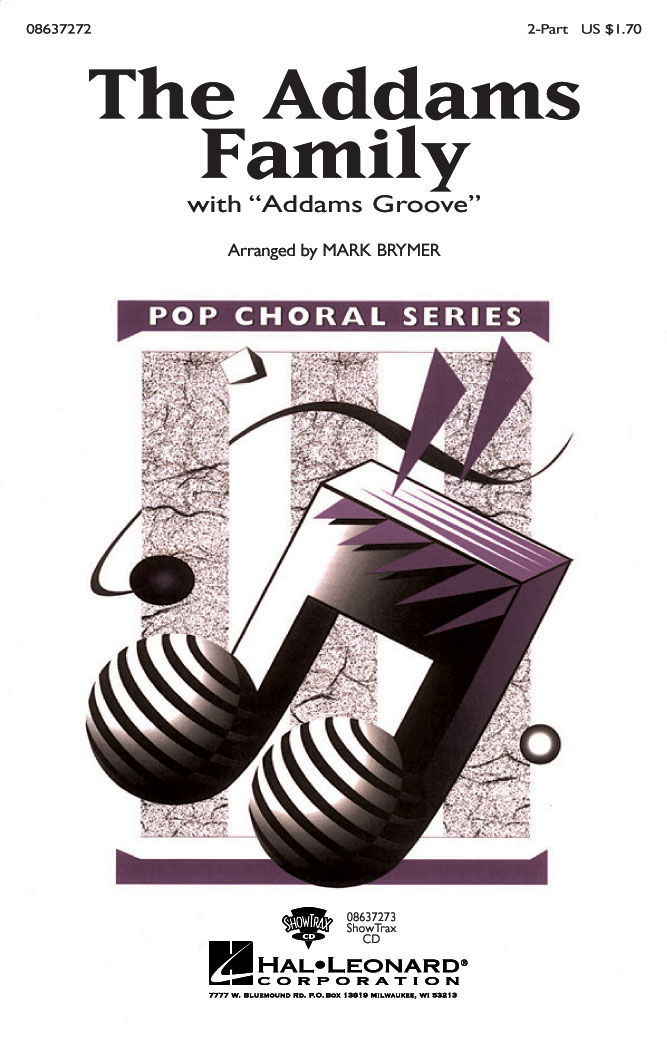 Vic Mizzy: The Addams Family: 2-Part Choir: Vocal Score