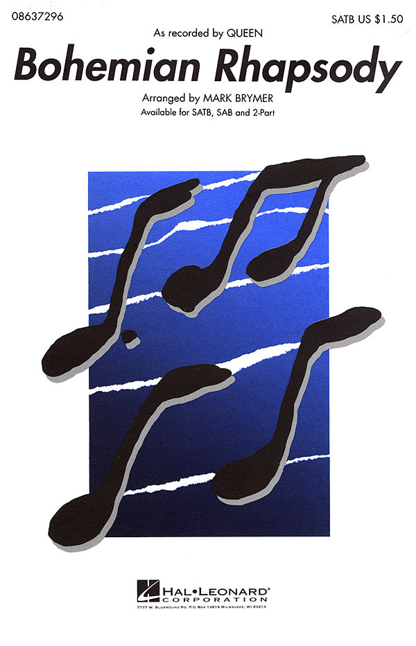 Freddie Mercury: Bohemian Rhapsody - SATB: SATB: Vocal Score