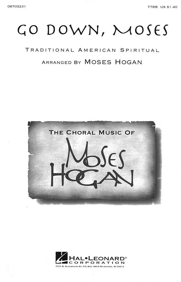 Go down   Moses: TTBB: Vocal Score
