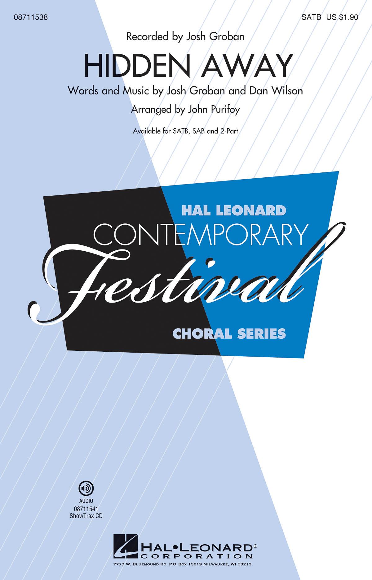 Dan Wilson Josh Groban: Hidden Away: Mixed Choir: Vocal Score
