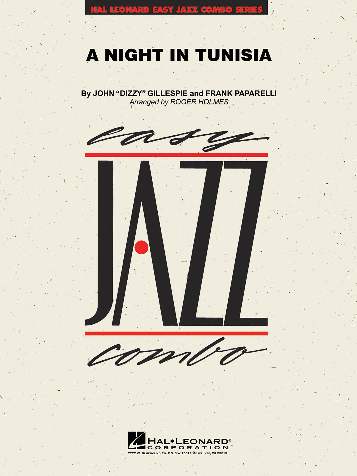 Dizzy Gillespie Frank Paparelli: A Night In Tunisia: Jazz Ensemble: Score &