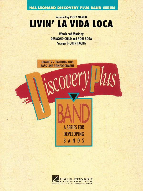 Desmond Child Robi Rosa: Livin' La Vida Loca: Concert Band: Score & Parts