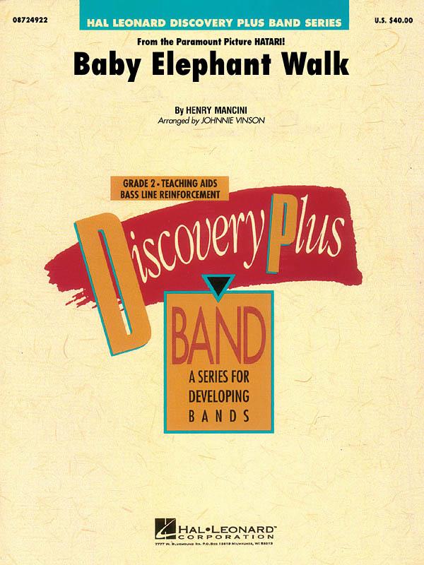 Henry Mancini: Baby Elephant Walk: Concert Band: Score and Parts