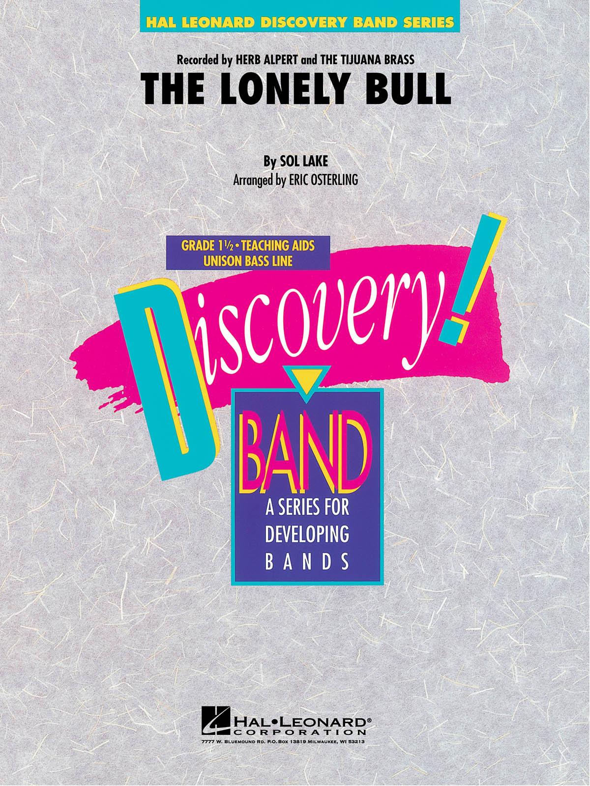 Herb Alpert: The Lonely Bull: Concert Band: Score