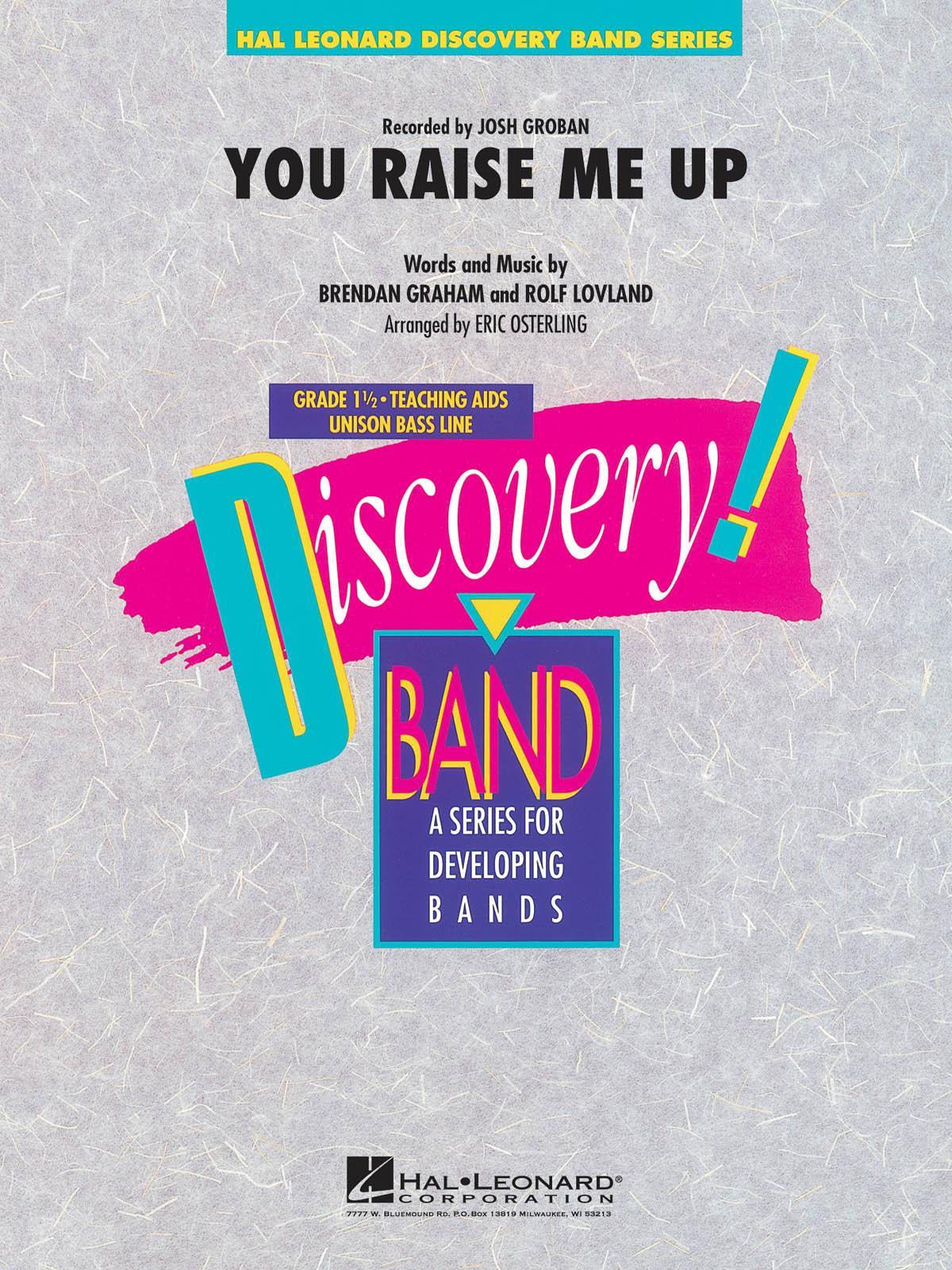 Brendan Graham Rolf Lovland: You Raise Me Up: Concert Band: Score & Parts