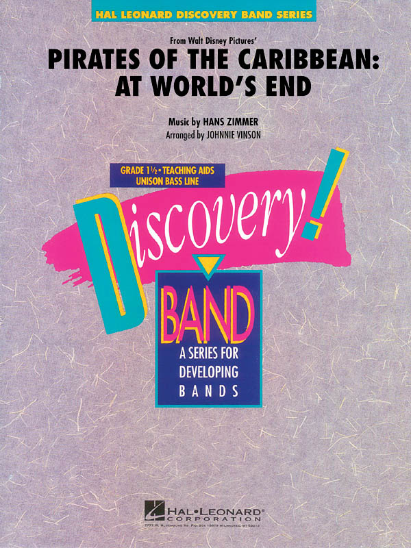 Hans Zimmer: Pirates of the Caribbean: At World's End: Concert Band: Score &