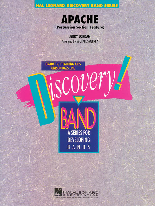 Jerry Lordan: Apache: Concert Band: Score & Parts