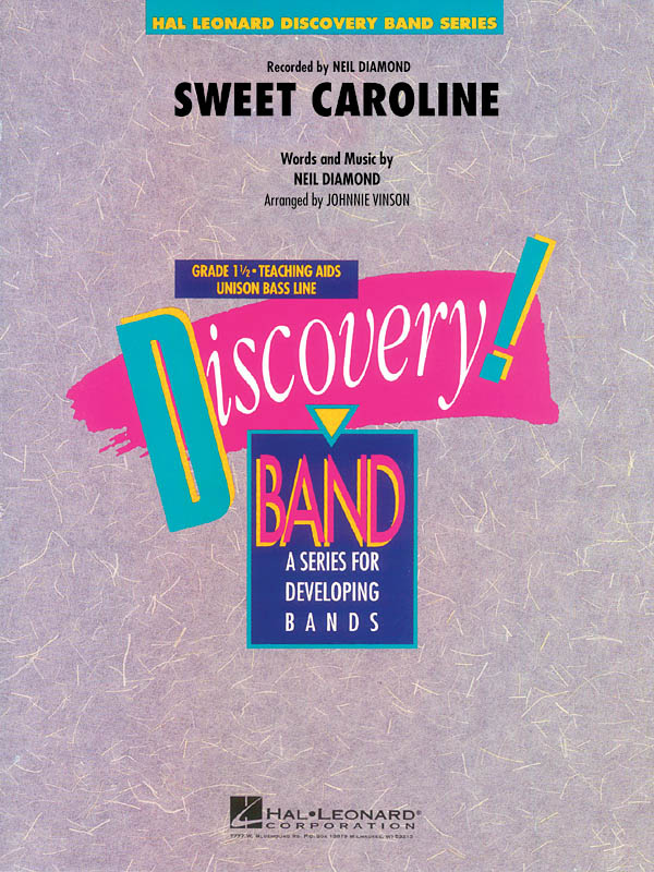 Neil Diamond: Sweet Caroline: Concert Band: Score & Parts