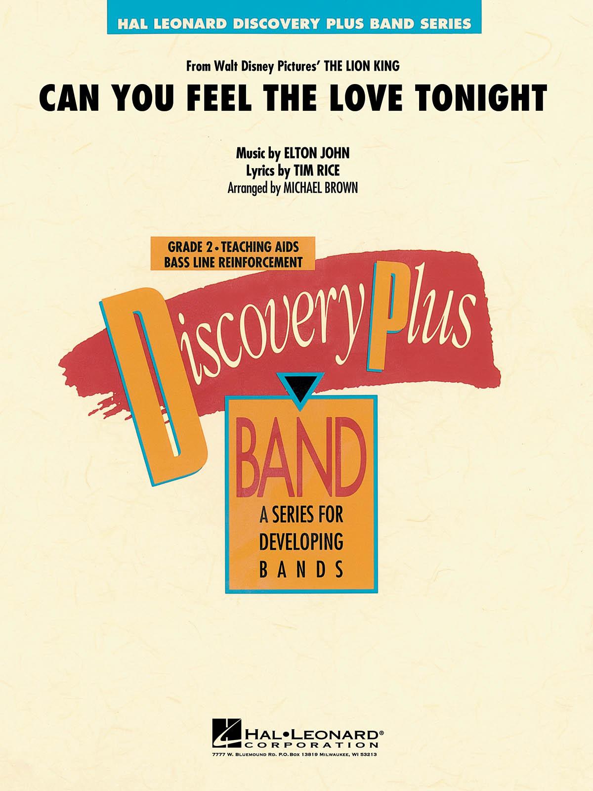 Elton John Tim Rice: Can You Feel The Love Tonight: Concert Band: Score