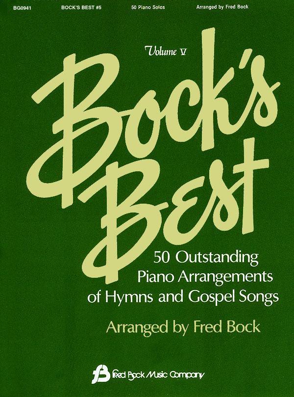 Bock´s Best Vol 5 Pno Solos Hymns And Gospel Songs: Piano: Instrumental Album