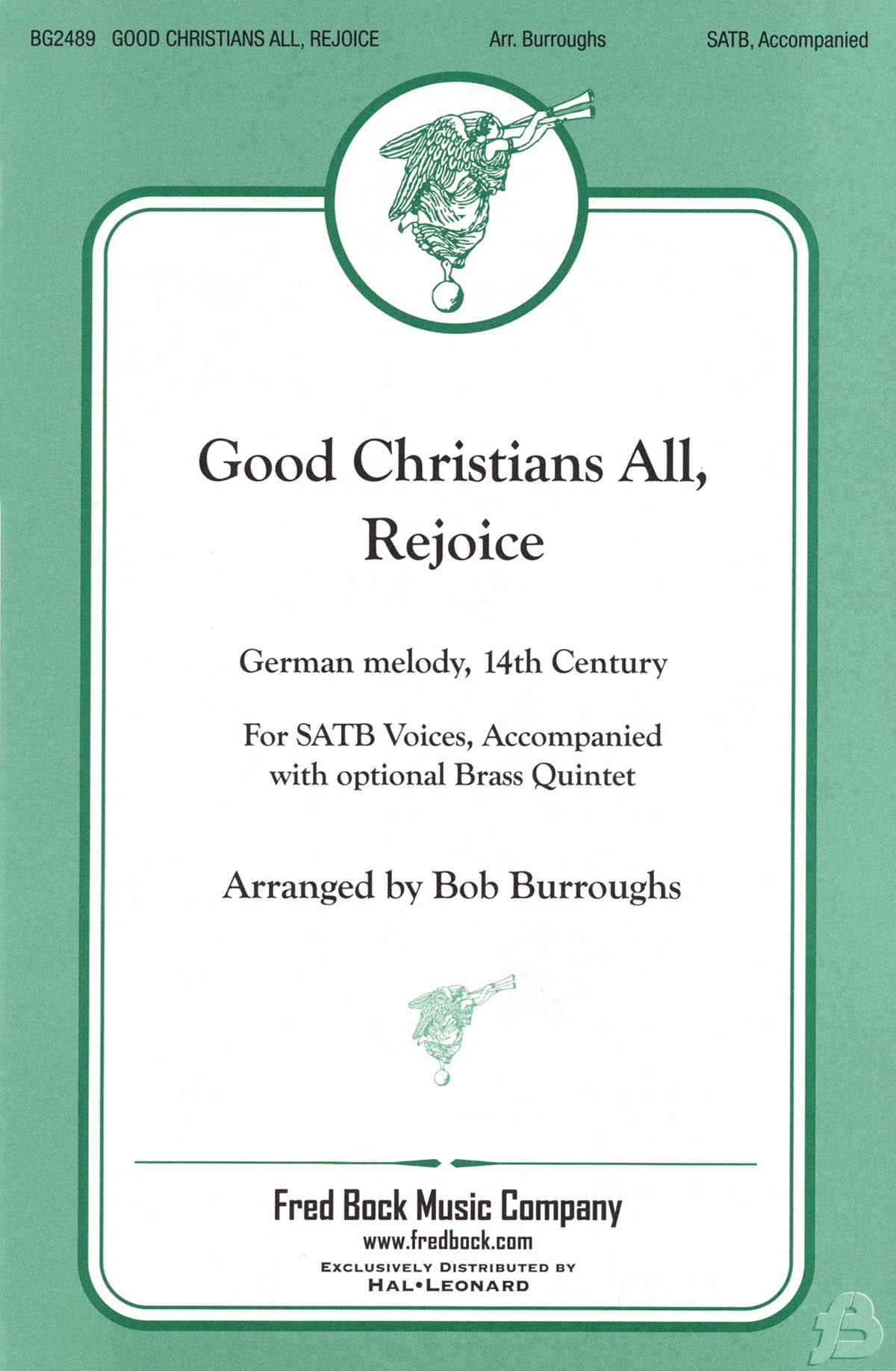 Good Christians All  Rejoice: Mixed Choir: Vocal Score