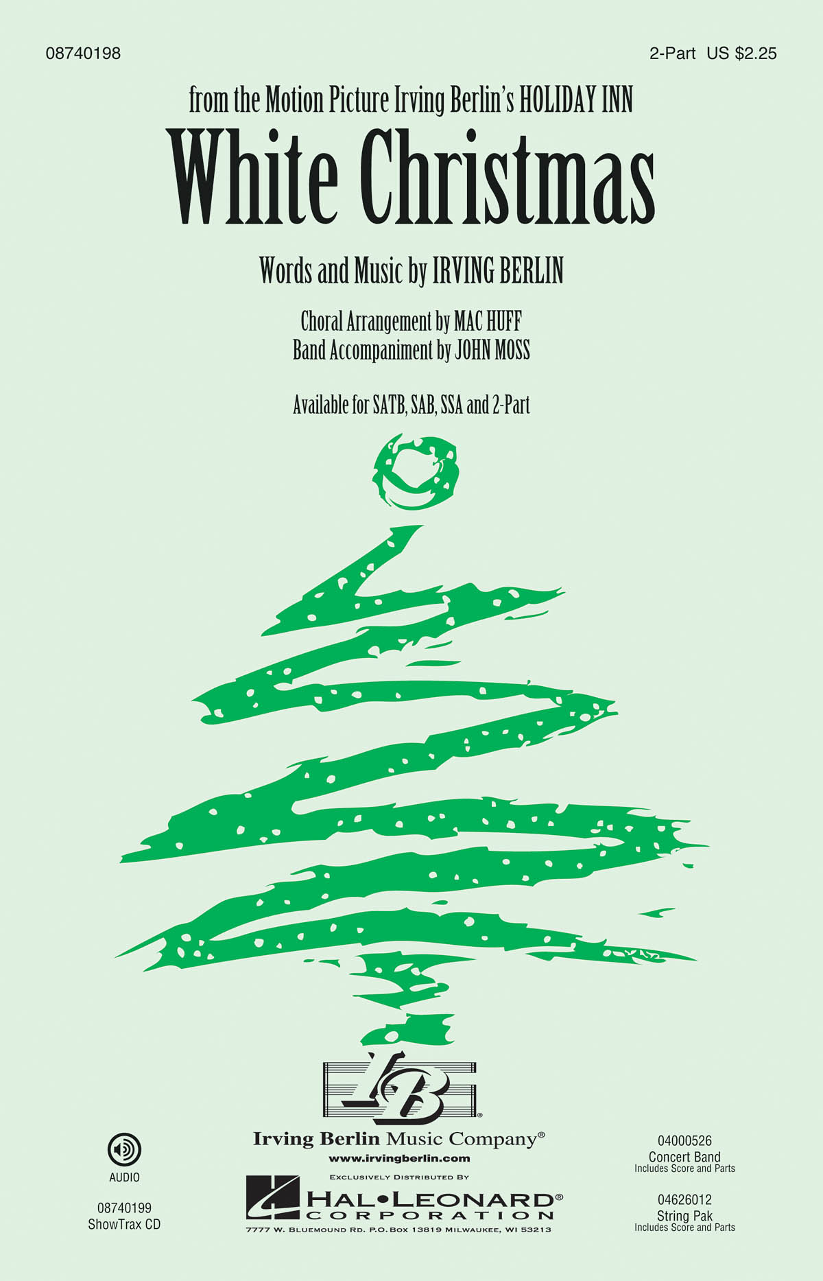 Irving Berlin: White Christmas: 2-Part Choir: Vocal Score